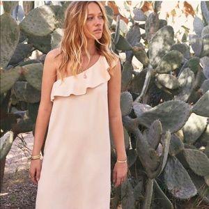 Sezane One Shoulder Ruffle dress
